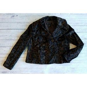 INC Animal Print Jacket
