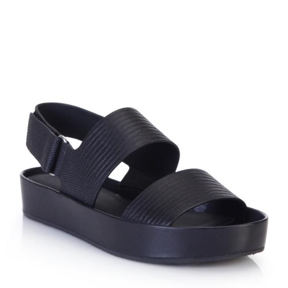 88615a442f1 Vince Marett Embossed Two Band Slingback Sandals. M 5a0ddf1dd14d7b54380418da