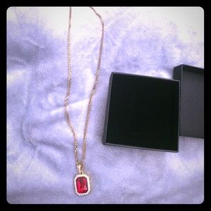 Other - Stainless steal ruby necklace