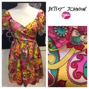 Classic wild BETSEY JOHNSON party DRESS sz4