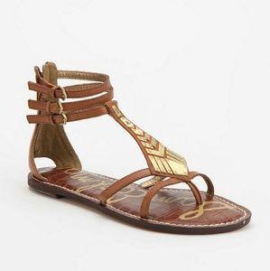 Sam Edelman Genna Leather Embellished Sandals