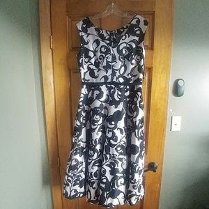 Pink and black floral dress, size 10