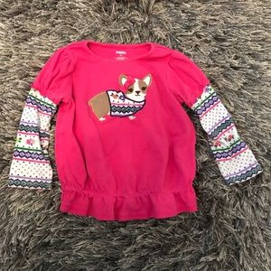 Gymboree Pink Chihuahua Long Sleeve Shirt Girls 3T
