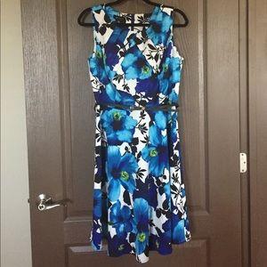 Worn Once! AB Studio A-Line Floral Print Dress