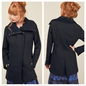 Steve Madden Mod Cloth Diagonal Alley Coat