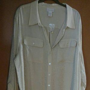100 percent silk jaquard big shirt.