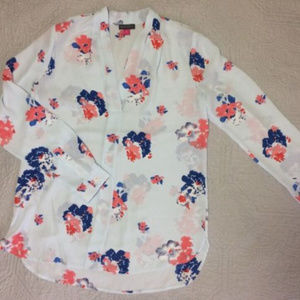 Vince Camuto Long Sleeve Floral Blouse