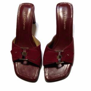 Liz Claiborne Slim Block Heels Maroon Red Zelig 6M