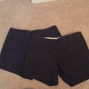 2 pair size 6 J crew chino shorts