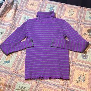 """Ralph Lauren """"Lauren"""" Purple Gray Turtle Neck"""