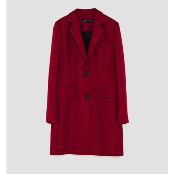 9f7658a0 Zara Jackets & Coats | Masculine Burgundy Pea Coat | Poshmark
