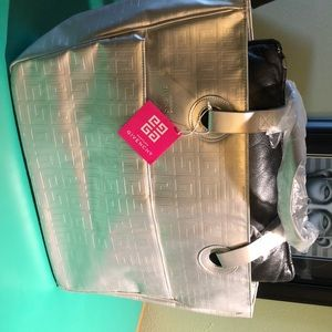 Givenchy Large Silver Monogrammed Tote Bag