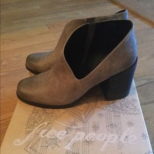 Free People Cut out Gray booties EUC