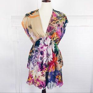 Ali Ro bright floral dress 6
