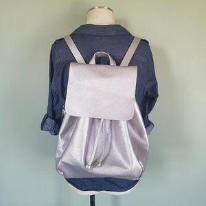 Zara TRF Silver Backpack