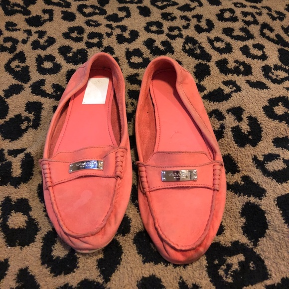 c52be3e13b2 Size 10 COACH Peach Loafers flats