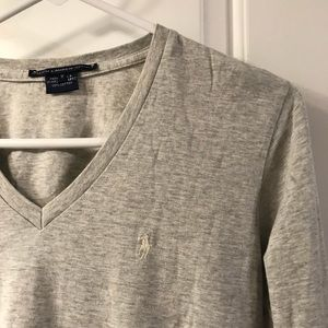 EUC Long Sleeve Polo Ralph Lauren Gray Sz M Tee V