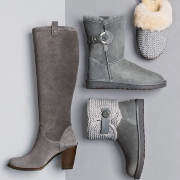 UGG 'Ava' Tall Water Resistant Suede Boot Size 7