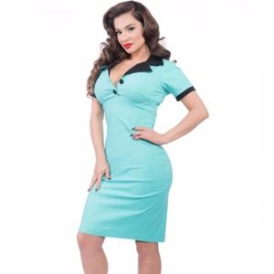 Steady Lillian Wiggle Dress Pinup Rockabilly Diner