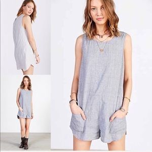 Blue BDG light chambray romper