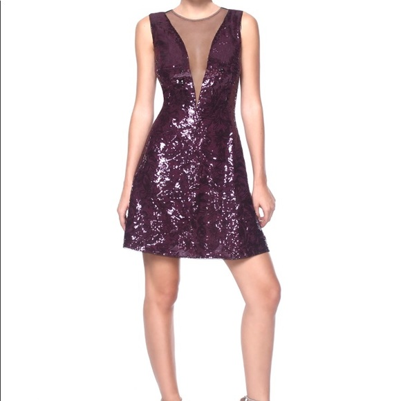 fb57d47c3f4 BCBG Max Azria Selina Fit   Flare Sequined Dress