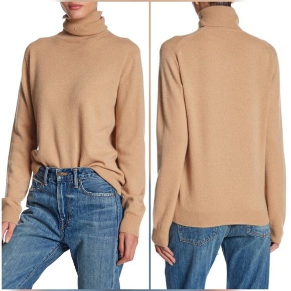 da54d1f525dac Vince Cashmere Turtleneck Sweater Camel Large L