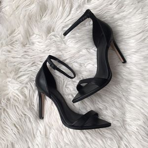 Zara Black Ankle Strap Sandals