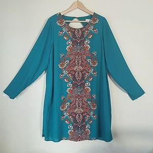 Teal tunic dress