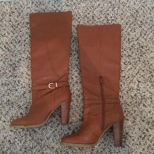 H&M Cognac Heeled Boots