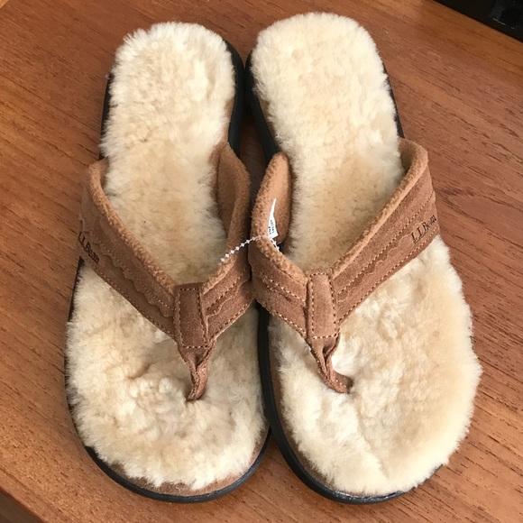 b96a45026177 LL Bean Women s Wicked Good Shearling Flip Flops