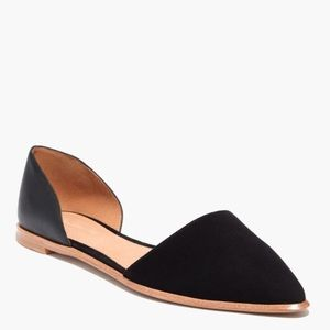 Madewell Arielle D'Orsay Flat in Leather and Suede