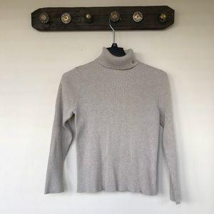 Lauren Ralph Lauren Oatmeal Turtleneck Sweater