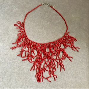 Jewelry - Coral Look Statement Necklace NWOT