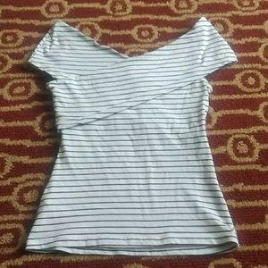 H&M Black and white striped shirt