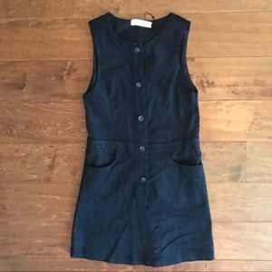 Zara Girls Sleeveless Paisley Corduroy Dress 13/14