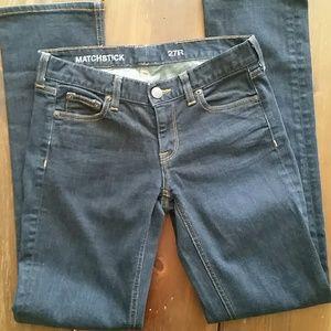 """J. Crew """"Matchstick"""" Dark Wash Jeans, Size 27R"""
