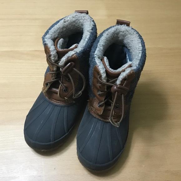 9d5e68a85ce7d Cat & Jack Shoes | Cat Jack Grey Brown Duck Style Boot 910 | Poshmark