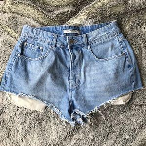 Never-worn Zara denim shorts