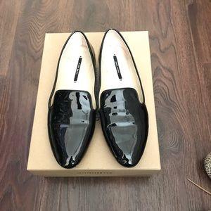 Zara Patent Black Loafers