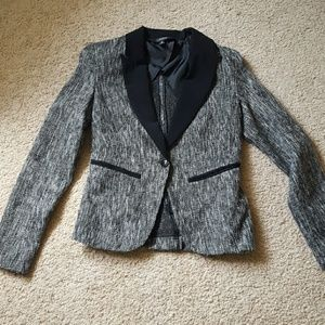 NWOT tweed blazer with metallic threads