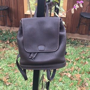 Rare COACH backpack in brown pebbled leather EUC