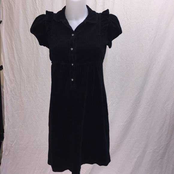 83f4ed71f70 Black Juicy Couture Terry Cloth Dress Small