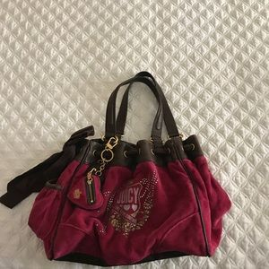 Juicy Couture Pink and Brown Daydreamer Bag