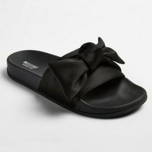 Julisa black Slide bow Sandals