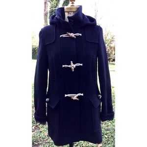 Topshop Wool Blend Wooden Toggle Hooded Coat 4