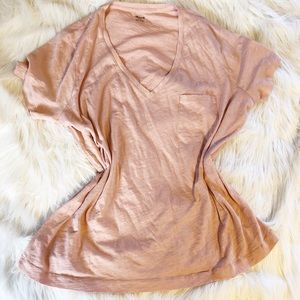 NWT Madewell Blush Pink Basic Pocket T Shirt