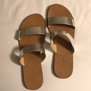 J. Crew silver sandals