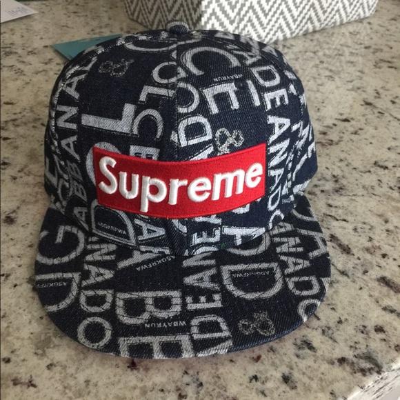 9eb6d7b75baf26 SnapBack hat with Supreme embroidery logo. M_5a0df88d2de51236ff04861b