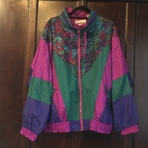 Jackets & Blazers - 80s vintage purple patterned jacket