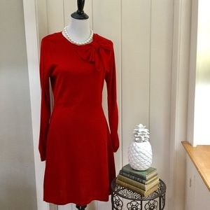 JESSICA HOWARD Red Knit Sweater Dress